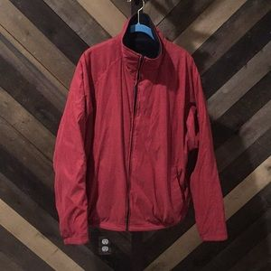 On line comfortable red jacket